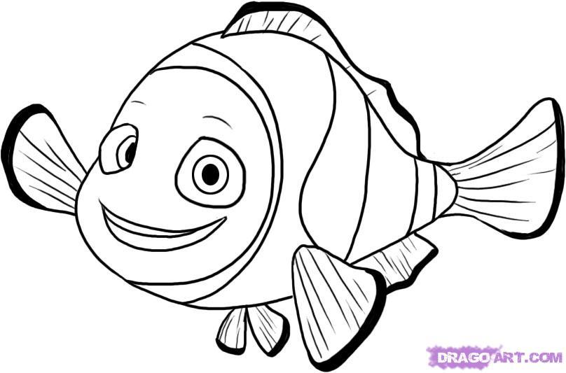 Free download clip art. Nemo clipart black and white
