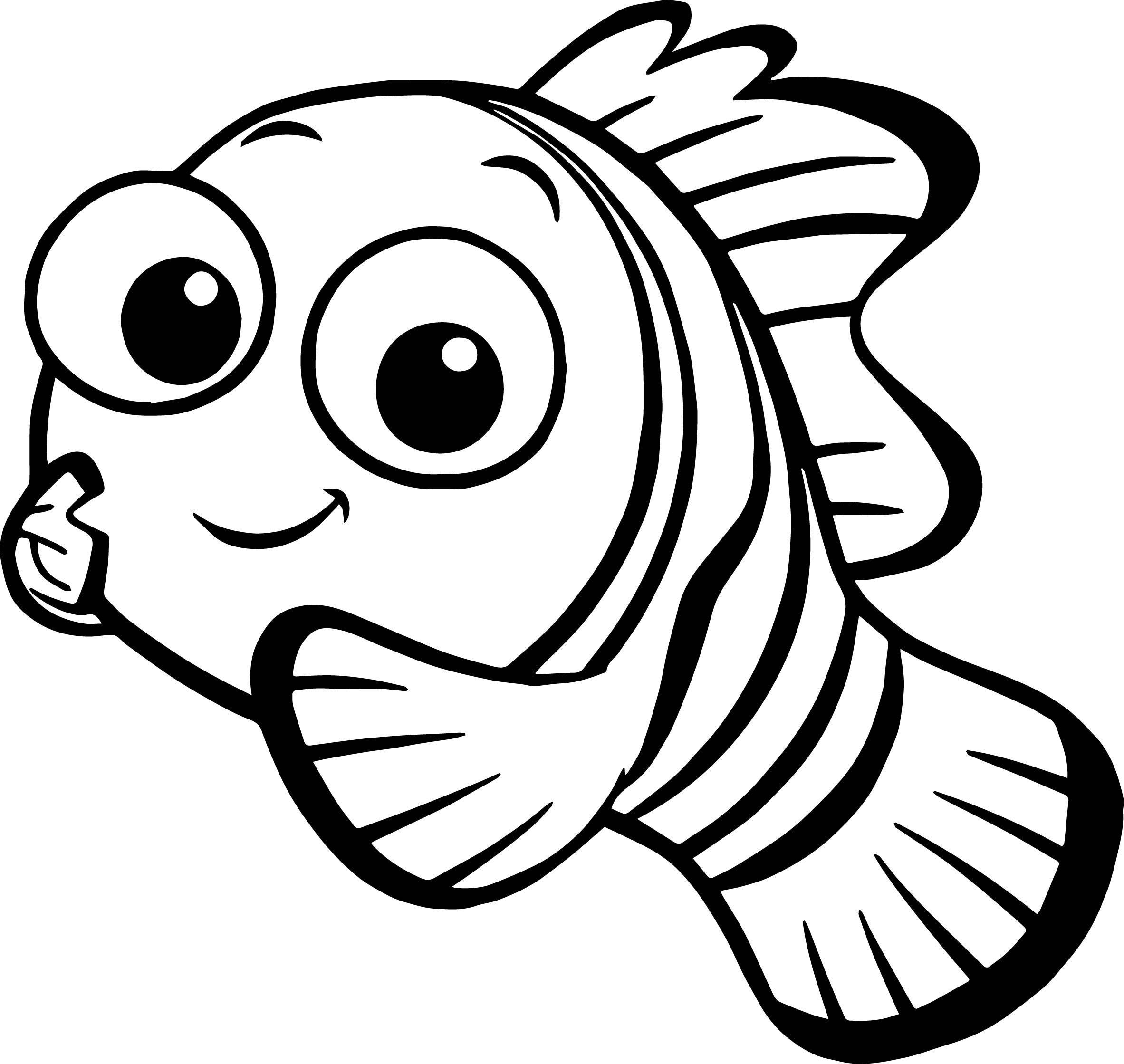 Nemo clipart black and white. Disney finding fish
