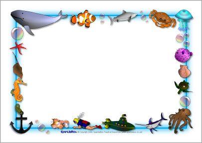 Sb ocean themed a. Nemo clipart border
