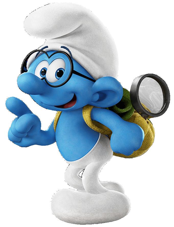 Nemo clipart cartoon disney. Brainy smurfs the lost