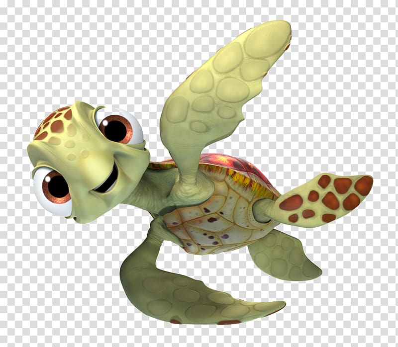 Green and brown turtle. Nemo clipart character pixar