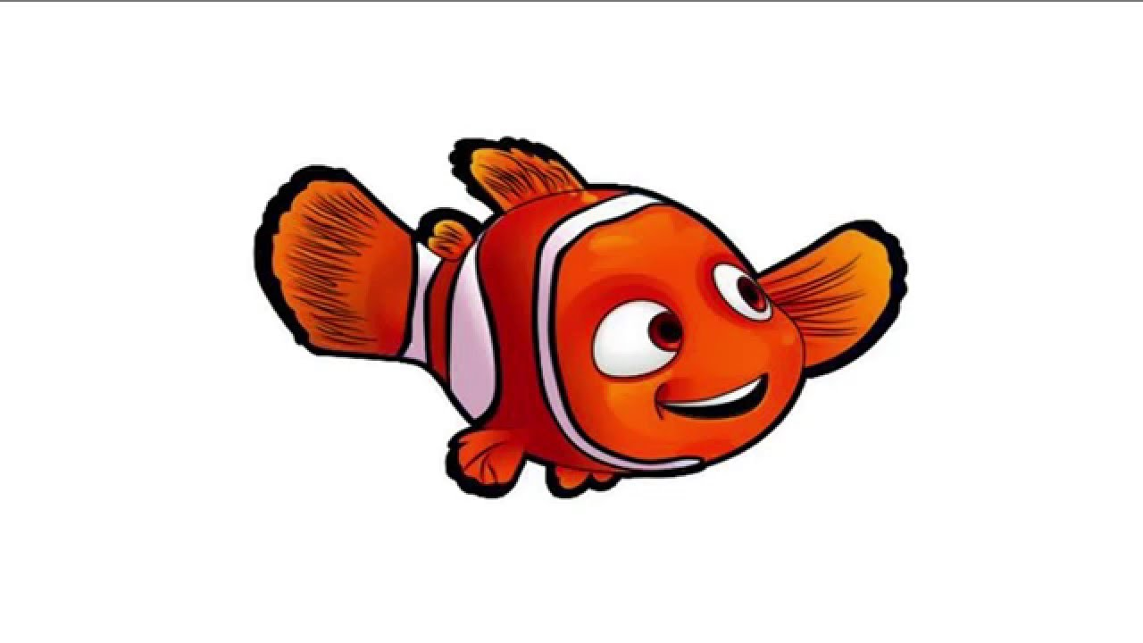Nemo clipart colorful. Learn to draw with
