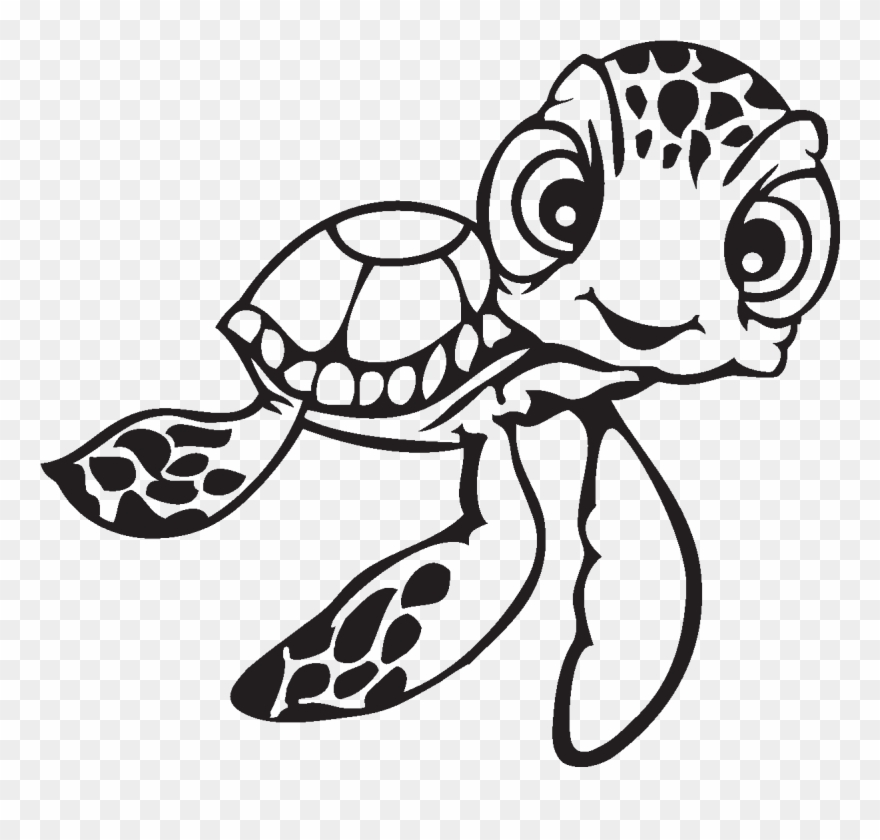 Nemo clipart face. Turtle colouring in pages