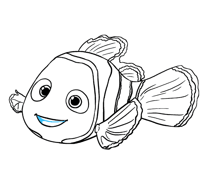 How to draw in. Nemo clipart fish fin