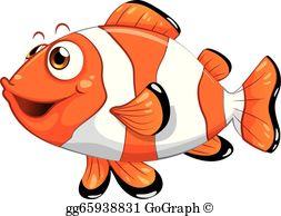 Nemo clipart fishy. Vector art cartoon cook