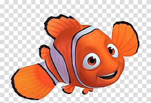 Nemo clipart logo. Side view transparent background