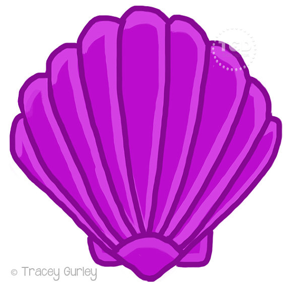 Shell clipart purple clipart. Scallop original art download