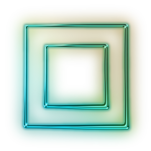 Square transparent pictures free. Neon frame png