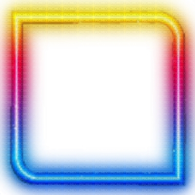 Colorful glowing glow picmix. Neon frame png