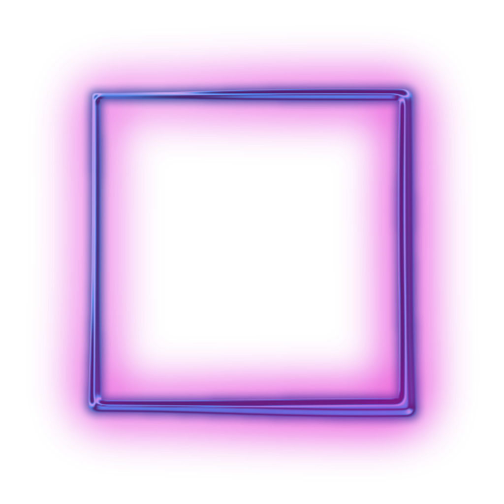 Purple square shapes. Neon frame png