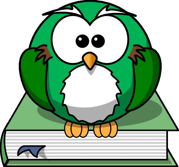 On the book clip. Pilgrim clipart owl