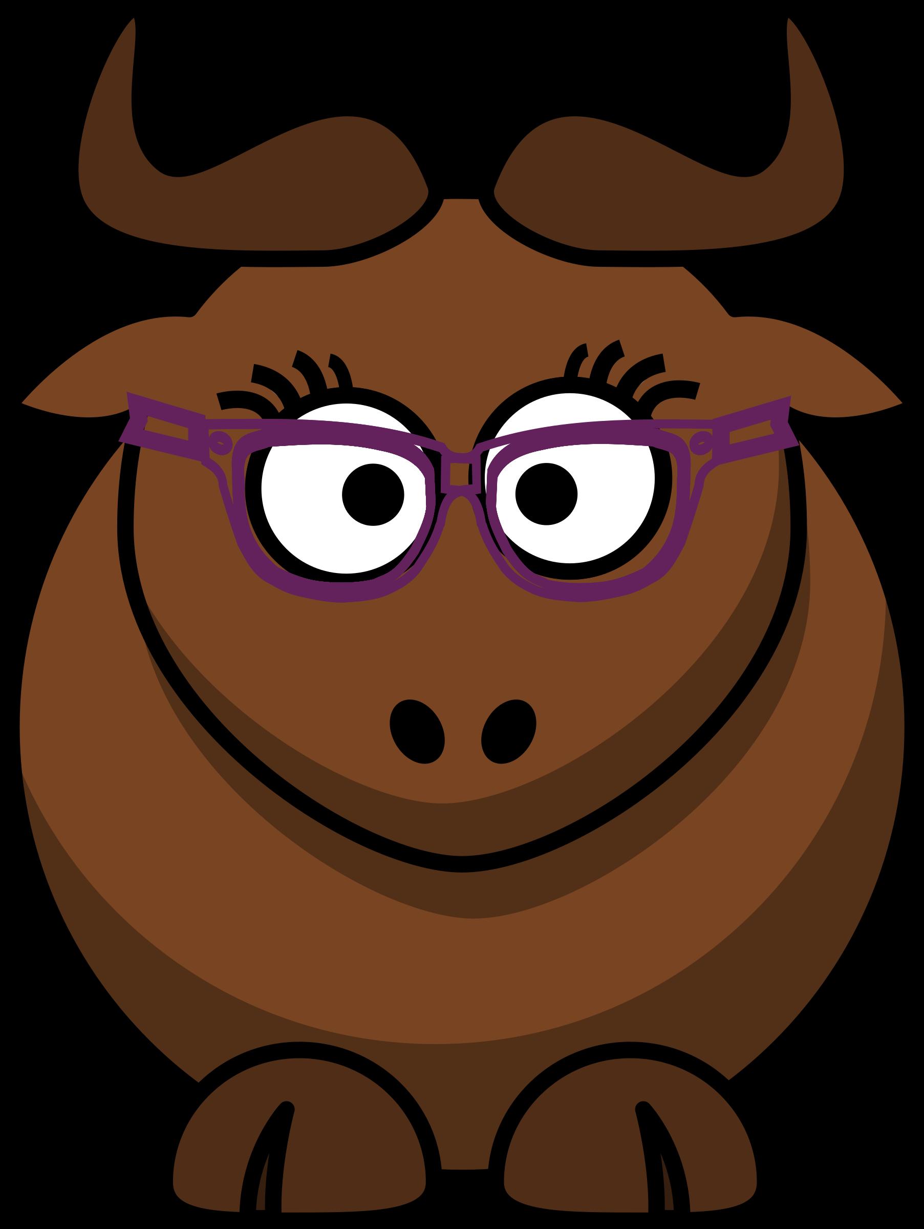 Gnu nerdy cute big. Nerd clipart cartoon