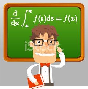 Teacher geek holding book. Nerd clipart math