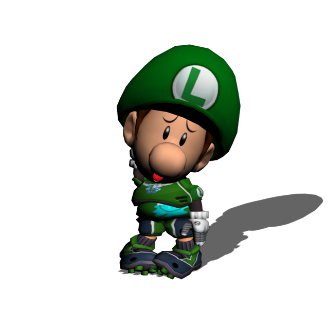 Baby luigi strikers charged. Nervous clipart afraid