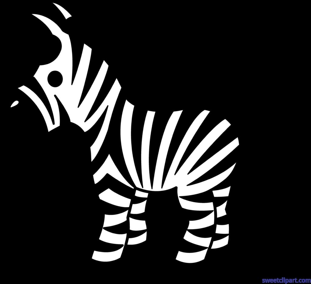 Cute zebra clip art. Nervous clipart black and white