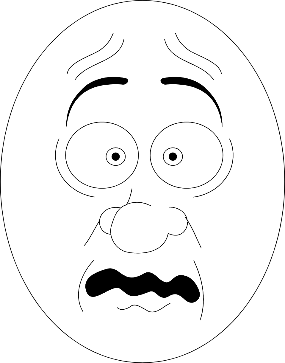 collection of high. Nervous clipart black and white