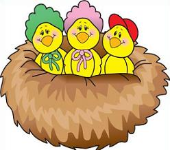 Free bird. Nest clipart