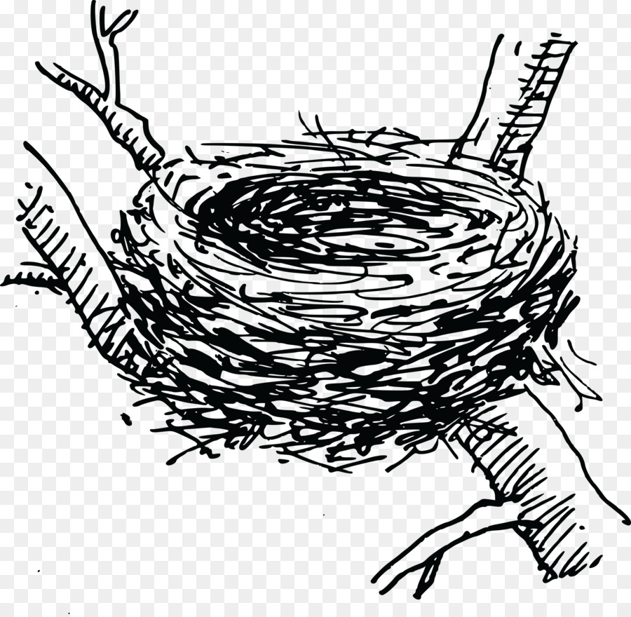 Nest clipart 4 bird. Black and white station