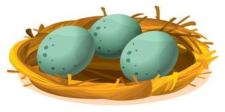 Pin bird s dinosaur. Nest clipart 5 egg