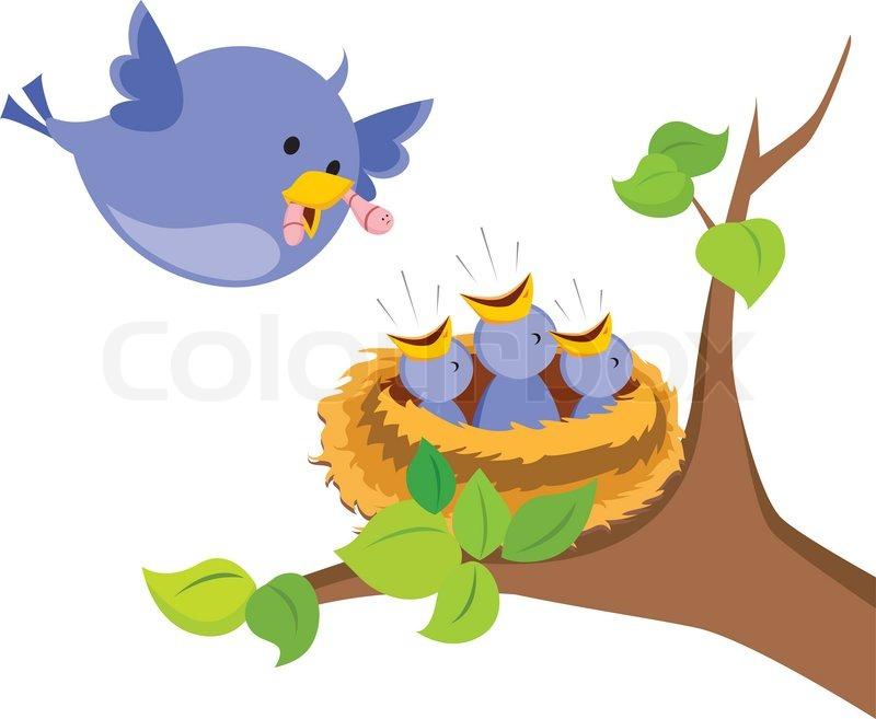 Nest clipart baby bird. Birds in station