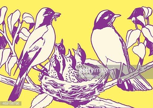 Nest clipart bird family. Premium clipartlogo com