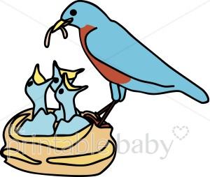 Cartoon free download best. Nest clipart bird family