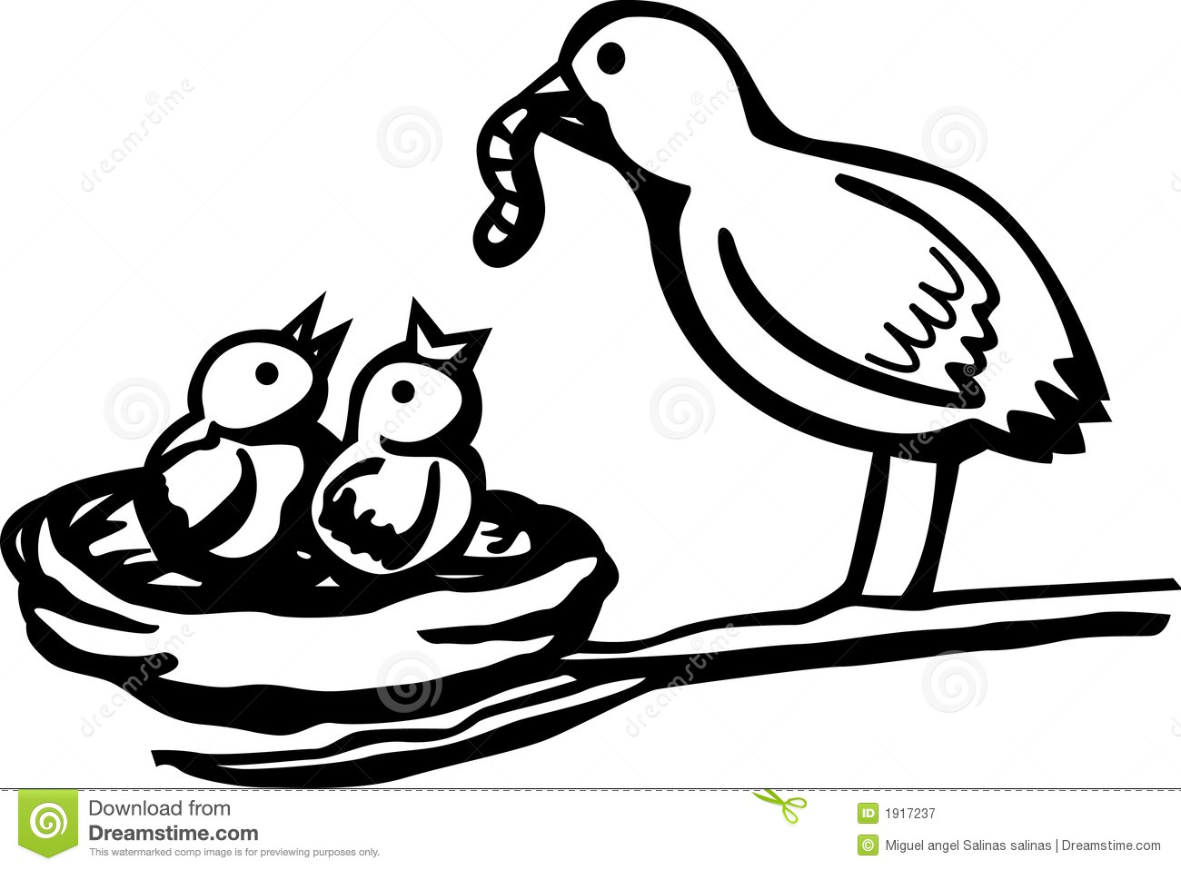 Black and white free. Nest clipart bird feed