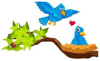 Free vector art downloads. Nest clipart bird scene