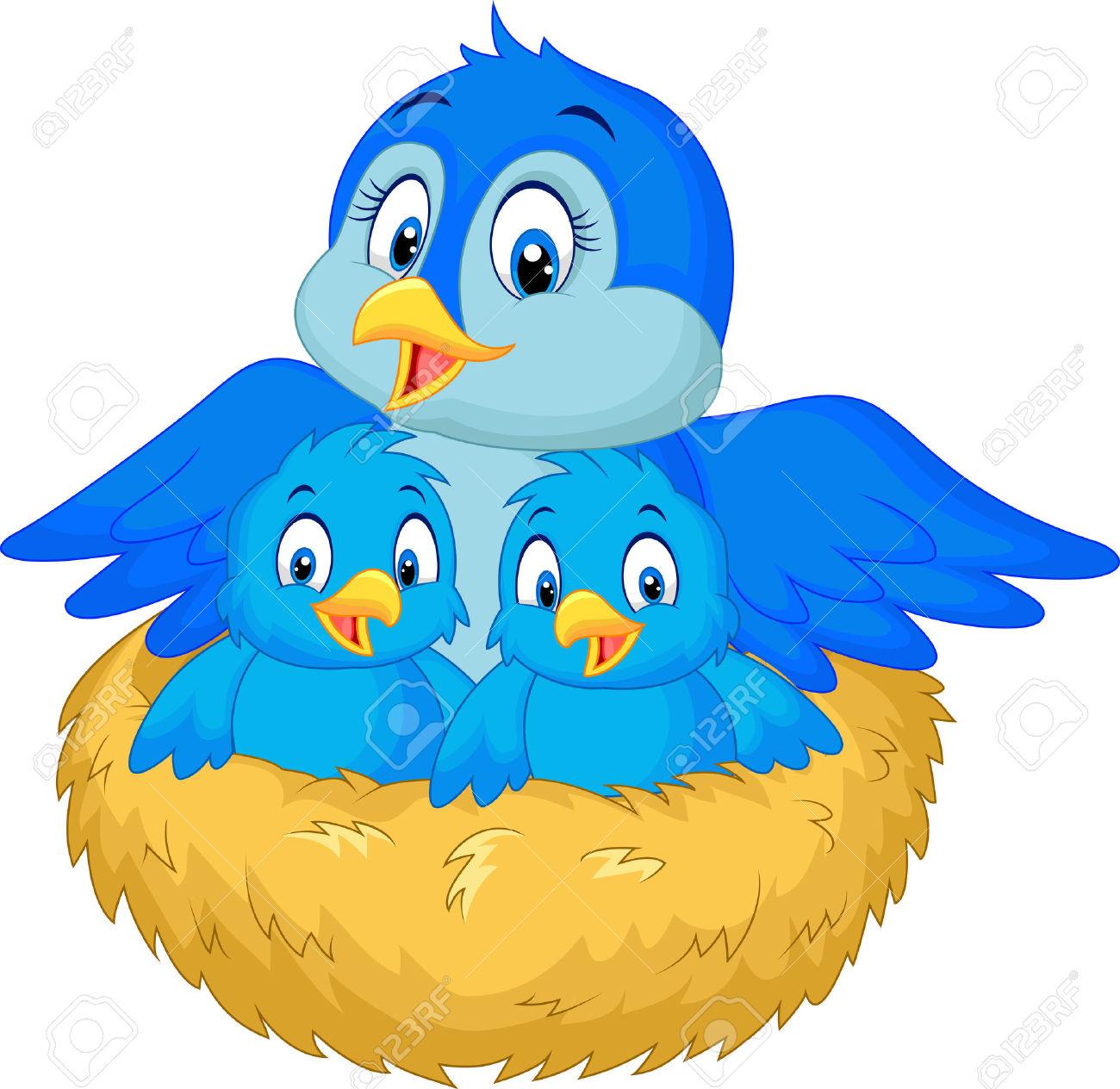 Nest clipart blue bird. In free download best