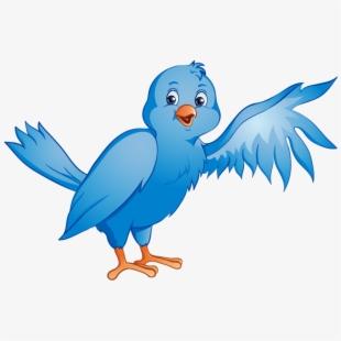 Cartoon in a wing. Nest clipart blue bird