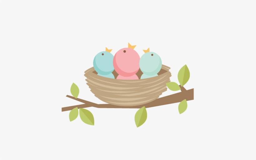 Bird png transparent . Nest clipart cute