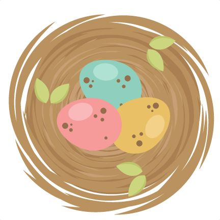 Nest clipart cute. Spring birds svg cutting