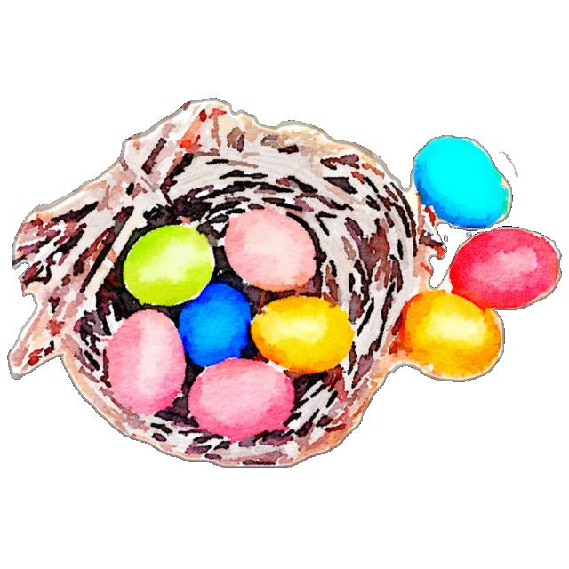 Nest clipart easter egg. Eggs in a basket