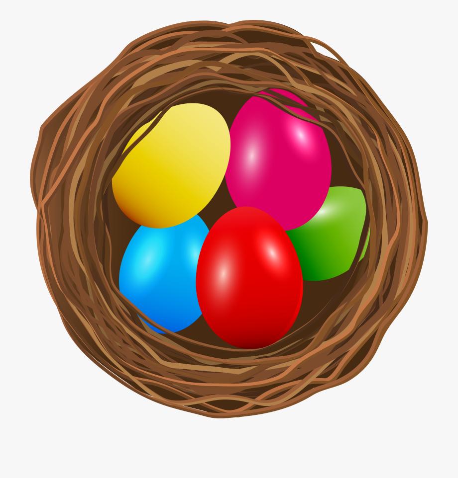 Clip art transparent one. Nest clipart easter egg