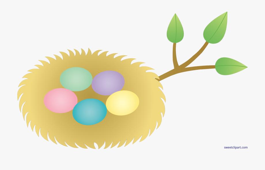Banner royalty free stock. Nest clipart easter egg