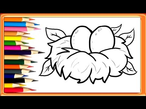 How to draw a. Nest clipart easy
