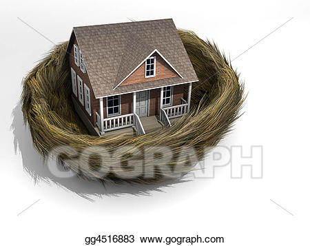 Nest clipart home. Drawing house in gg