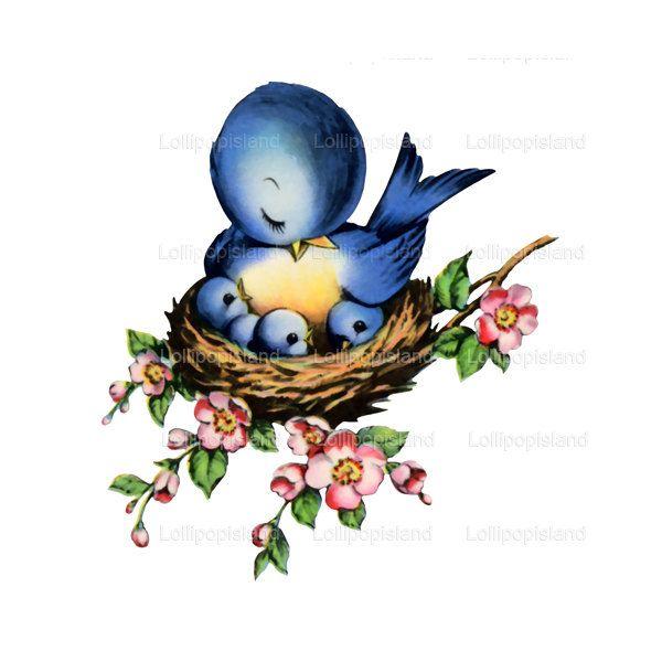 Pin by deanna rowton. Nest clipart mother bird