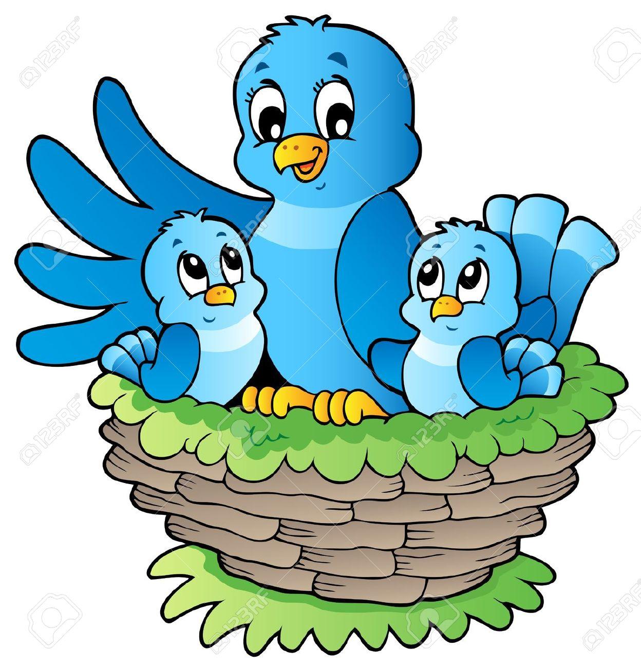 Nest clipart mother bird. Cartoon free download best