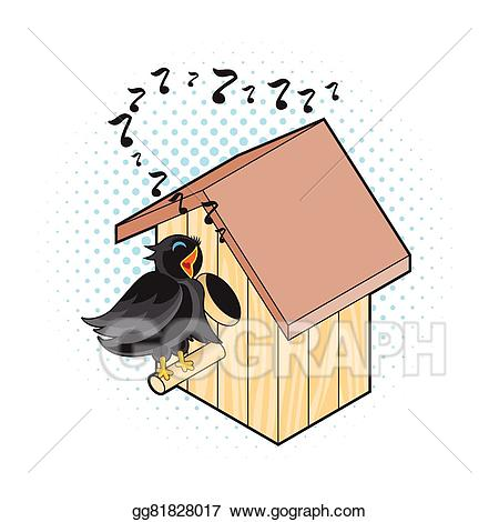 Nest clipart nesting. Vector starling and box