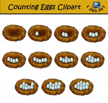 Counting eggs in birds. Nest clipart one egg clipart