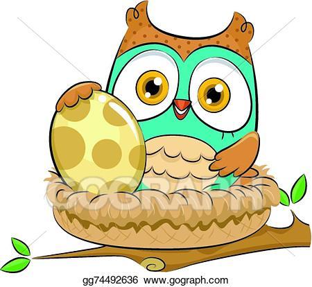 Eps illustration vector gg. Nest clipart owl nest