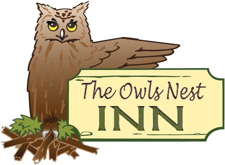 Nest clipart owl nest. The owls inn logopng