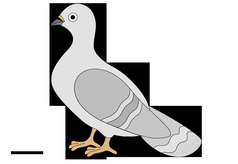 Nest clipart pigeon nest. Raster
