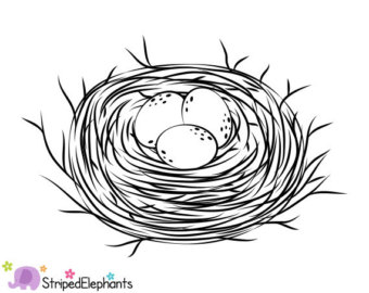 Nest clipart simple. Free outline cliparts download