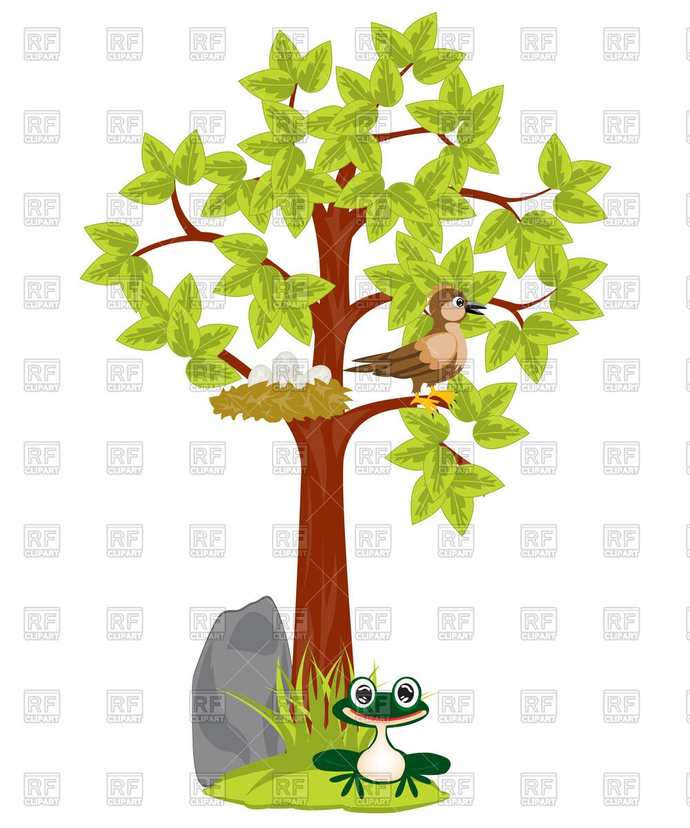 With portal . Nest clipart tree