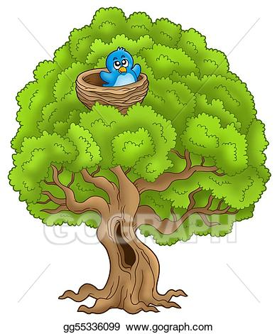 Clip art big with. Nest clipart tree