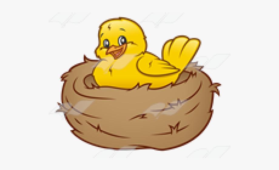 In . Nest clipart yellow bird