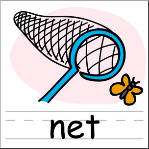 Clip art basic words. Net clipart