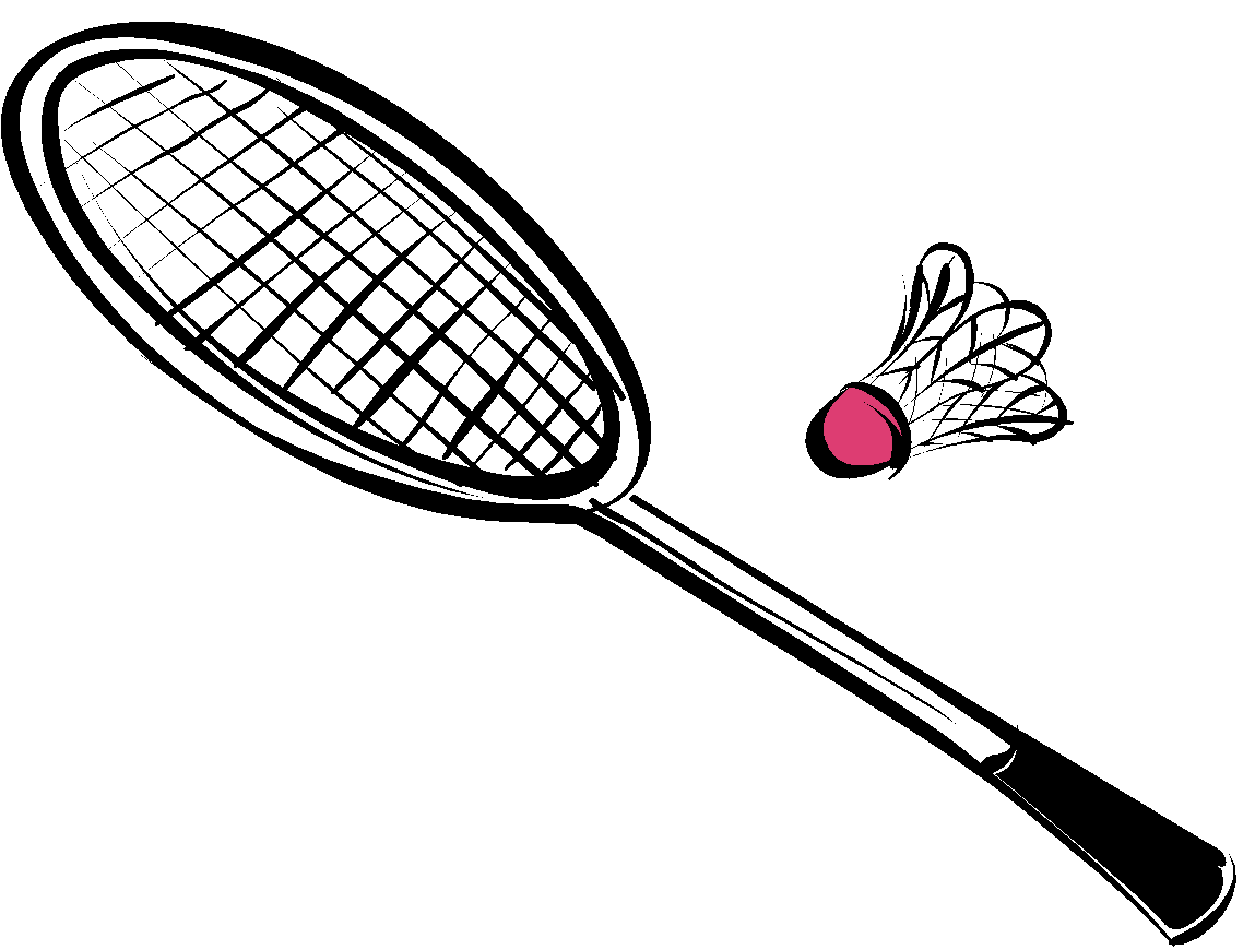collection of equipments. Net clipart badminton equipment
